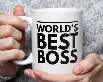 World's Best Boss Mug - Funny Coffee Mug Perfect Gift For Boss