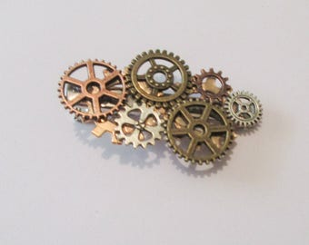 Steampunk Gear Hair Clip