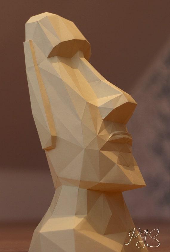 Papercraft Easter Island Head