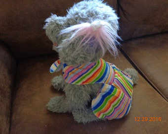 Pet Comfort Vest- extra small- stripes multi color