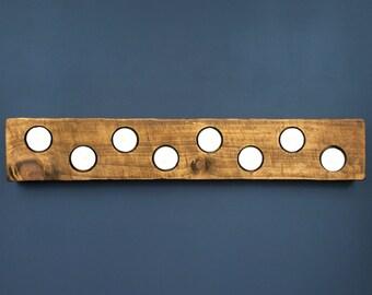 Rustic Reclaimed Scaffold Board Tea Light Candle Holder