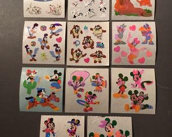 Sandylion rare shiny, paper, fuzzy Disney sticker lot