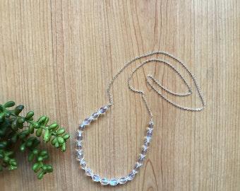 Clear sparkle necklace