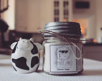 8 oz Natural Soy Candle ~ scent of choice