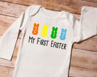 First Easter Onesie, Baby's First Easter, Easter Outfit, Easter Shirt, My First Easter, Easter Bodysuit, My 1st Easter, Personalized Easter