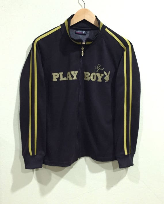 Vintage Playboy fullprint hoodie zipper sweatshirt