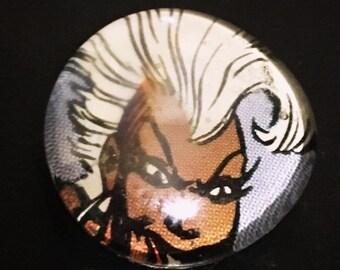 Vintage Storm Glass Pebble Magnet