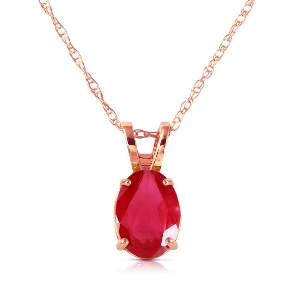 Gold NECKLACE With NATURAL RUBY
