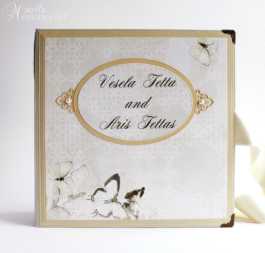 Personalised Wedding Photo Albums: Custom Wedding Photo Album Personalized Wedding Scrapbook