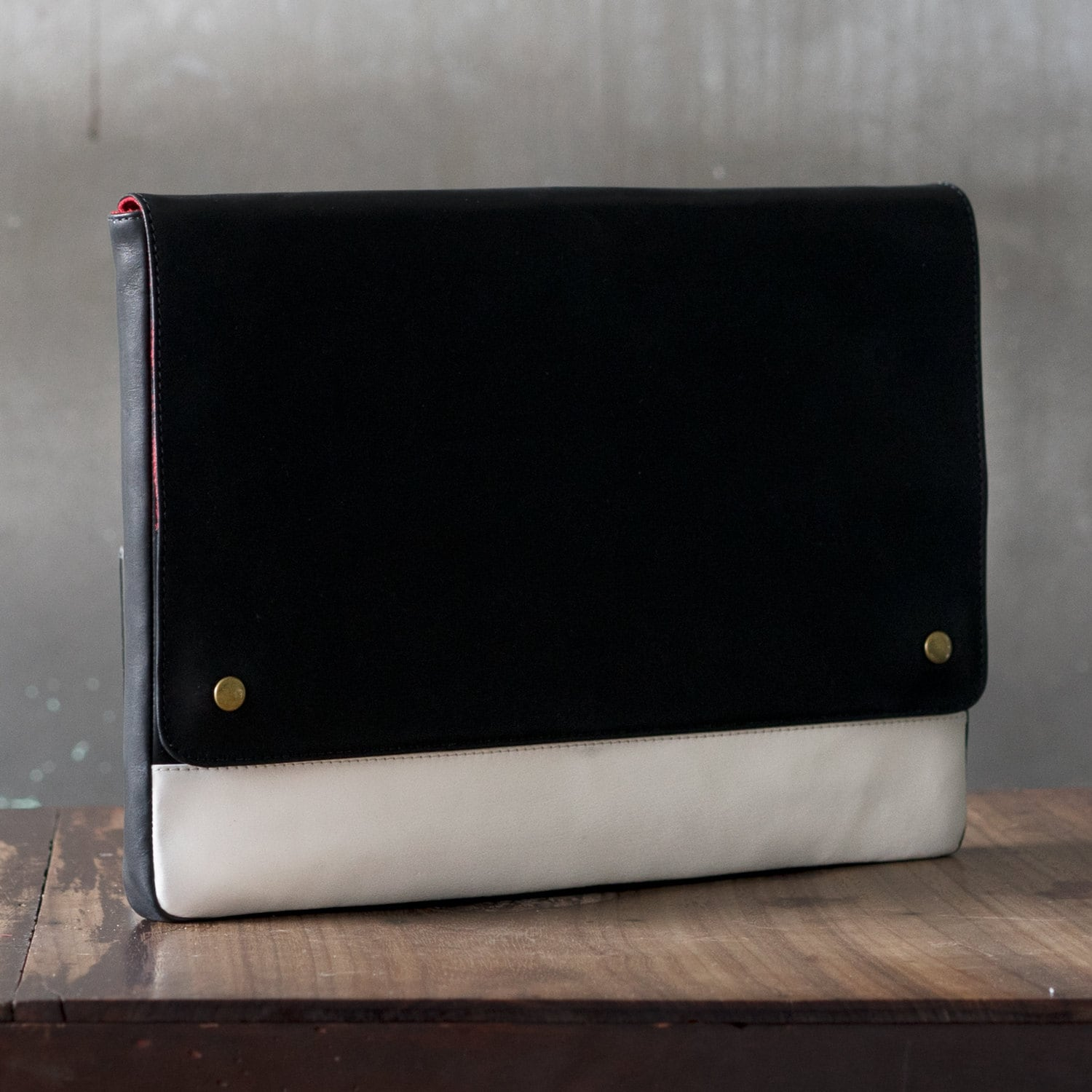 White Macbook Cover ~ Inch macbook case black and white leather laptop sleeve