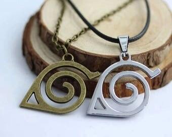 Naruto Leaf Village Pendant Necklace