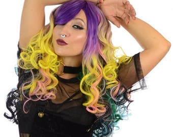 Pastel Rainbow Multi Colour wig