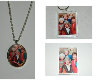 The Golden Girls Necklace, Magnet, and or Keychain