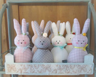 Easter Bunny fabric, Shabby Chic