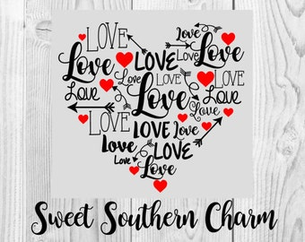 heart svg - heart svg file - love svg - love svg file - valentines day svg - valentine svg file - valentines svg file - heart cutting file