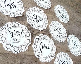 Little Lettered Doilies