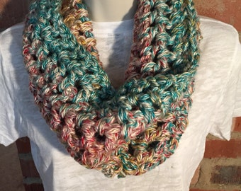 Hudson Bay colorful Cowl Neck Infinity Scarf | Warm Scarf | Infinity Scarf | Colorful