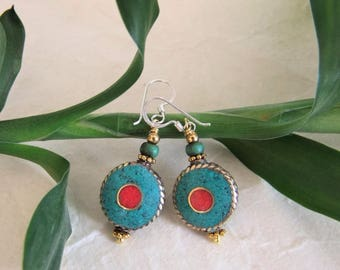 Tibetan earrings. Tibetan Jewellery. Tibetan earrings. Tibetan jewelry.