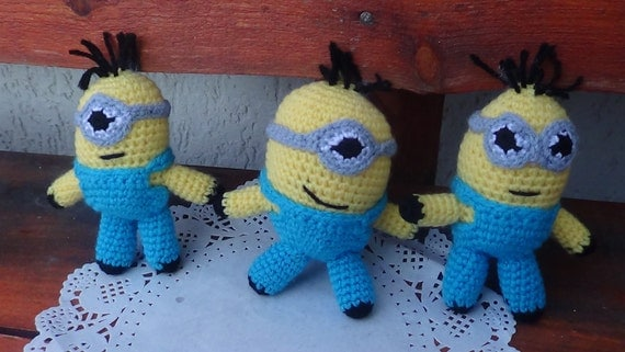 Items similar to Minions toy. Minions amigurumi. handmade ...