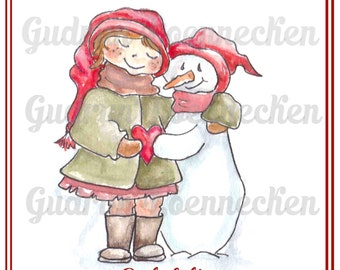 Frosty friends - printable Christmas cards