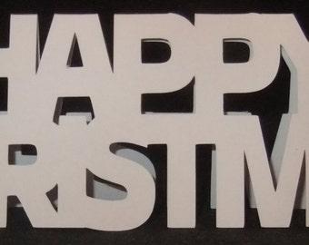 Happy Christmas Shaped Card