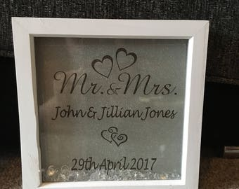 Mr&Mrs wedding gift frame