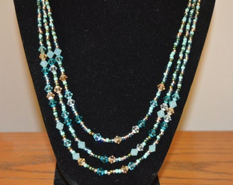 Three Strand Swarovski Necklace