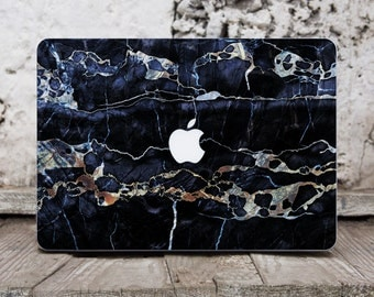 Black Marble Computer Decal Macbook Pro 15 Decal Macbook Cover Laptop Cover Marble Macbook 12 Laptop Case Decal Macbook Decal Pro Retina 014