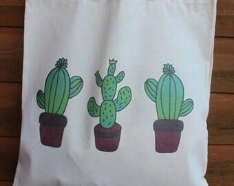 Cacti Design Tote Bag, Free UK P&P