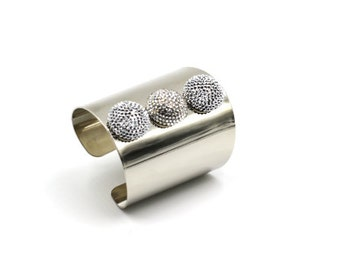 Bling Button Cuff