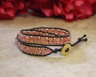 Rope Wrap Natural Stone Bracelet