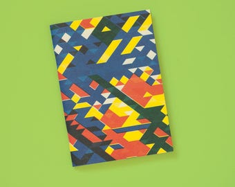 A6 note book blank geometric Riso