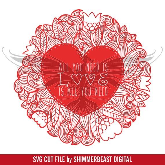 Download All You Need Is Love Mandala svg | Valentines svg | Valentine SVG | Heart Mandala SVG | Love svg ...