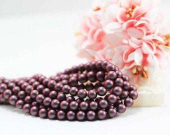 100 pcs, Genuine Swarovski® 5810 5.0mm Iridescent Red Pearl