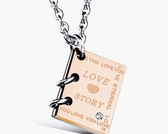 True love story necklaces