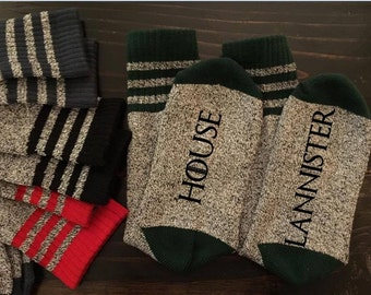 GoT Great Houses Thermal Socks Stark Lannister Game Of Thrones