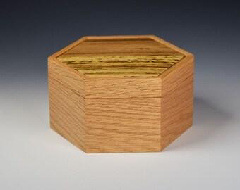 Keepsake box - Red Oak