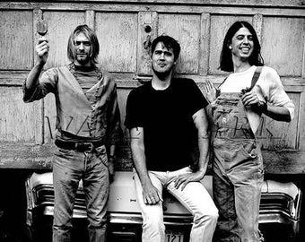 Nirvana, Nirvana Concert Poster, Nirvana Art, Nirvana Poster, Nirvana Print, Kurt Cobain, Kurt Cobain Wall Art, 8x10, 11x14 (JS00883)