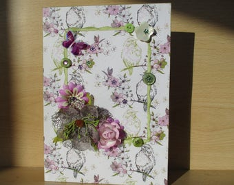 Lilac and green birthday/mothers day card
