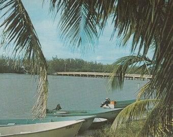 Sanibel Island, Florida Vintage Postcard - Blind Pass Bridge, Captiva Island, Lee County Florida