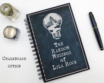 Personalized Journal, Gift for Her, Bullet Journal, Custom Notebook, Writing Notebook, Custom Journal, Spiral Notebook