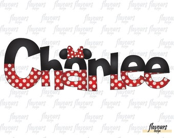 Minnie Mouse Inspired - Personalized Name - Disney World - Disney Iron On Transfer - DIY Disney Shirts