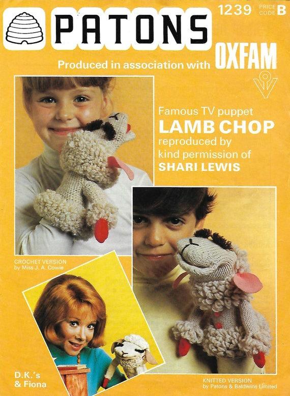 Vintage 1970's Knitting / Crochet Pattern Lamb Chop Sheri