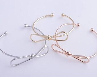 Bowknot bracelet, infinity knot bracelet, 14k gold/rose gold/silver/rhodium knot bracelet, infinity bracelet