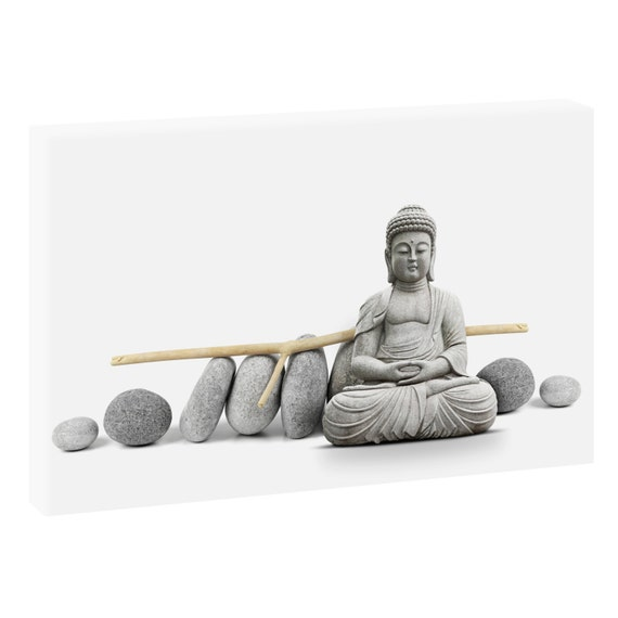 buddha feng shui keilrahmen leinwand poster xxl 120 cm80 cm. Black Bedroom Furniture Sets. Home Design Ideas
