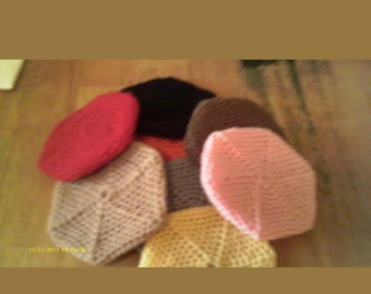 Hand crocheted nylon pot scrubber