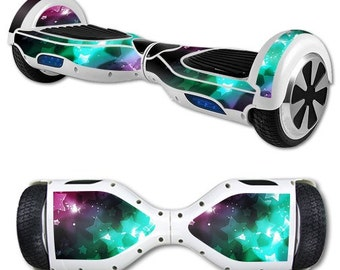 Glow Stars, Skin Decal Wrap for Self Balancing Scooter Hoverboard unicycle, Hover Board, Balance Board Decals Only