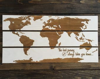 World Map, Home, Love, Wood, Engrave, Laser, Journey, Wall Decor, Home Decor, Globe, Countries, Customized, Personalize