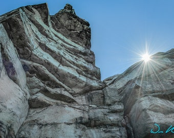 Sun Shines Over the Cliff - Minnewaska State Park Photography - Sam's Point - New York State Park Photo - Rock Cliff