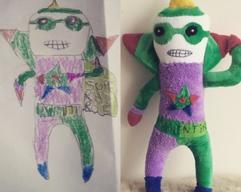 Transform your kids drawings into plush toys today!